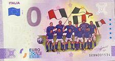BILLET 0  EURO ITALIA L' EQUIPE DE FOOTBALL  COULEUR 2021 NUMERO DIVERS
