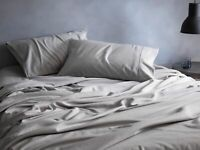 Sheridan Flannelette Sheet Set Cloud Grey