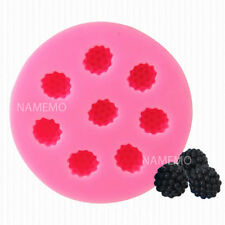3D Raspberries Silicone Soap Embed Mold Fruit Fondant Chocolate Fimo Clay Resin