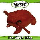 New Mano Percussion Small Wooden Guiro Tone Frog with Beater - Brown - EM337S