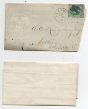 United States used on cover 184 State of New York Bank eagle fancy cancel
