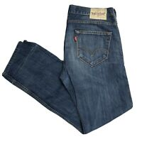 LEVIS 504 Mens Straight Regular Dark Blue Jeans W35 L32 (F221)