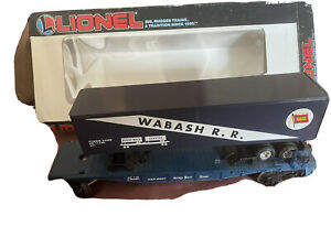 lionel flat car with trailer wabash rr