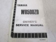 Owner's service manual YAMAHA WR Z 500 1992