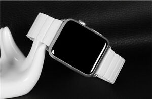 40/44mm Luxury Ceramic iWatch Link Band Strap for Apple Watch Series 6 5 4 3 2 1