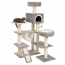 XXL Cat Tree Tower Den Ladder Tall House Hammock Beds Scratching Post Large Cats