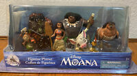Disney Moana Figurine Play Set 6 Pieces Plastic Figures Pua Hei Hei Cake Toppers
