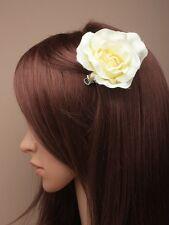 LADIES CREAM FASCINATOR FLOWER ROSE CLIP PARTY WEDDING 5332 HEAD
