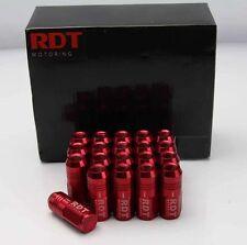 20x RED 50MM CLOSE END TUNER LUG NUT 12X1.5mm FOR KIA MAZDA LEXUS SCION HONDA