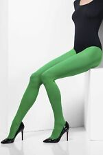 Fever Green Tights Opaque Sexy Ladies Witch Fancy Dress Costume Halloween