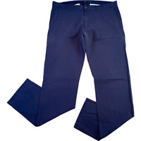 J.CREW Mens Trousers W35 L33 Blue The Driggs Straight Regular Pants