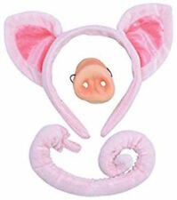 PIG EARS NOSE AND TAIL FANCY DRESS SET ANIMAL COSTUME OUTFIT ACCESSORY 3