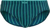 Bruno Banani Men's Jail Sport Brief Green Striped Underwear