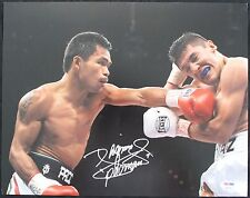 Manny Pacquiao Autographed Signed 11x14 Photo Pac Man Mayweather PSA/DNA COA