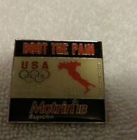"""BOOT THE PAIN"" 2006 USA Olympics Pin"