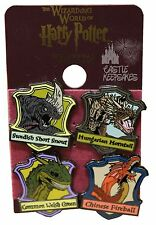 Wizarding World of Harry Potter Triwizard Dragons 4 Pin Badge Set Horntail