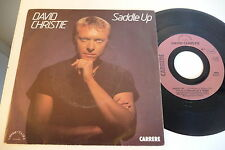 DAVID CHRISTIE 45T SADDLE UP / THE SIGNALS. CARRERE SAVOIR FAIRE 49933 FRANCE.