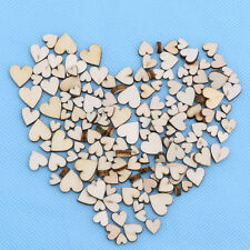 100 pcs rustique bois Love Heart Wedding Table Décoration Artisanat Bricolage
