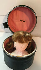 "VTG  Red strawberry Hair Wig with original case    8-10"" doll  Size ? 1950.s"