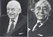2 Fotos Soziologe ALPHONS SILBERMANN Pressefoto Vintage von 1989/1992 Soziologie