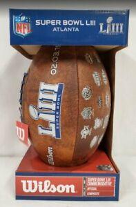 NEW Super Bowl LIII New England Patriots vs LA Rams Commemorative Football