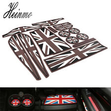 For MINI Cooper Countryman R60 Coaster Cup Holder Side Door Mat Set Union Jack
