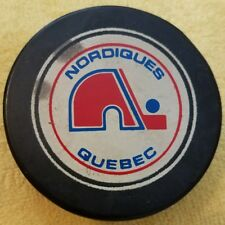 Vintage Nordiques Quebec made in canada Official Size Hockey Puck