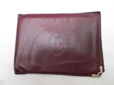 Joli portefeuille - porte-cartes CARTIER Paris cuir vintage /