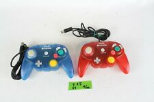HORI GameCube Controller PAD Clear Blue red GC Japan Tested Working 2 pieces F3F