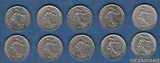 Vème République, 1959- -- Lot de 10 pièces de 50 Centimes Semeuse TB à SUP
