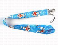 New 10pcs Doraemon Mobile Phone Lanyards Neck Straps Charms ID Card Holder