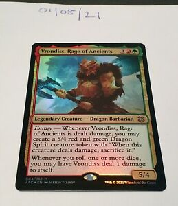Magic the Gathering MTG Vrondiss, Rage of Ancients x1 Mythic Rare FOIL Card NM/M