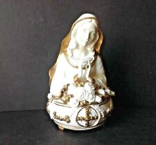 VTG The Franklin Mint Ave Maria Music Box Statue Hand-painted Fine Porcelain