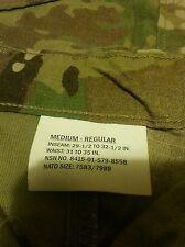 SET ARMY MULTICAM COMBAT SHIRT MEDIUM long and .  pants  are medium regular  NEW