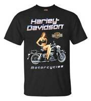 Harley-Davidson Men's Black Top Pin-Up Cotton Short Sleeve T-Shirt - Black