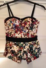 Material Girl Peplum Top Size 8 S Strappy Asymmetrical Hem NWOT