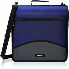Amazonbasics 3 Ring Binder With Zipper D Ring 4 Inch Blue D Ring