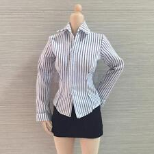 1/6 Womens Long Striped Shirt Package Hip Miniskirt for 12in. Female Figures