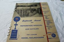 *Rare*18th Annual 1951 Walthers 'O' Gauge Catalog and Reference Manual,