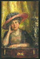 Antonio Mancini : Lady Phillips - cartolina realizzata in occasione per Mostra