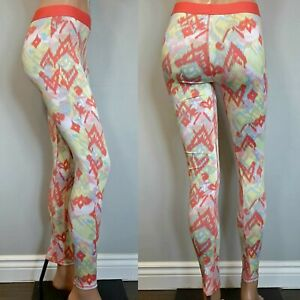 Forever 21 Leggings Womens Size Small Orange Yellow Multicolor Athletic Pants