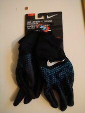NIKE Men's DRI-FIT Tailwind Run GLOVES 2.0 LT Photo Blue/Black/Silver Size L New