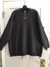 NWT Eskandar Size 1 1x 2x Brown Melange Merino Wool Crewneck Sweater