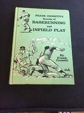 Signed 1st Edition Frank Crosetti Secrets Baserunning Infield Play COA 1966