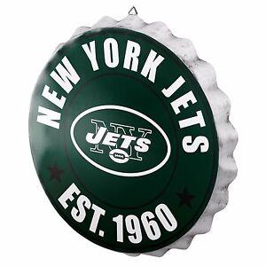 "New York Jets Bottle Cap Sign - Est 1960 - Room Bar Decor NEW 13.5"""