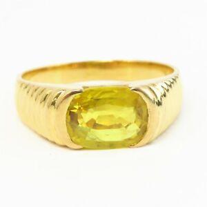NYJEWEL 22k Yellow Gold 3.5ct Yellow Sapphire Ring