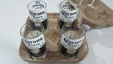 Set of 4 Stubby Bottle Drinking Glasses - Corona Recycled Upcycled