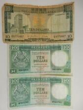 1977 Chartered Bank Hong Kong, $10 Banknotes, Circulated & 2 1992, #B48