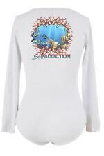 Salt Addiction life Women's long sleeve V neck microfiber Ocean reef  t shirt