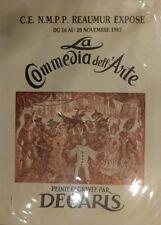 Affiche Decaris pour la Commedia Dell' Arte Signée 1987